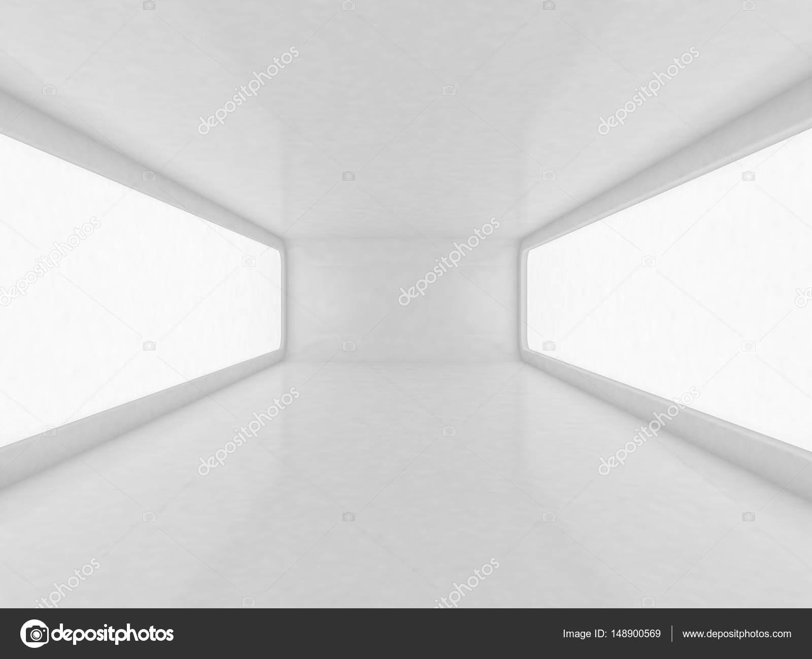 Futuristic white room