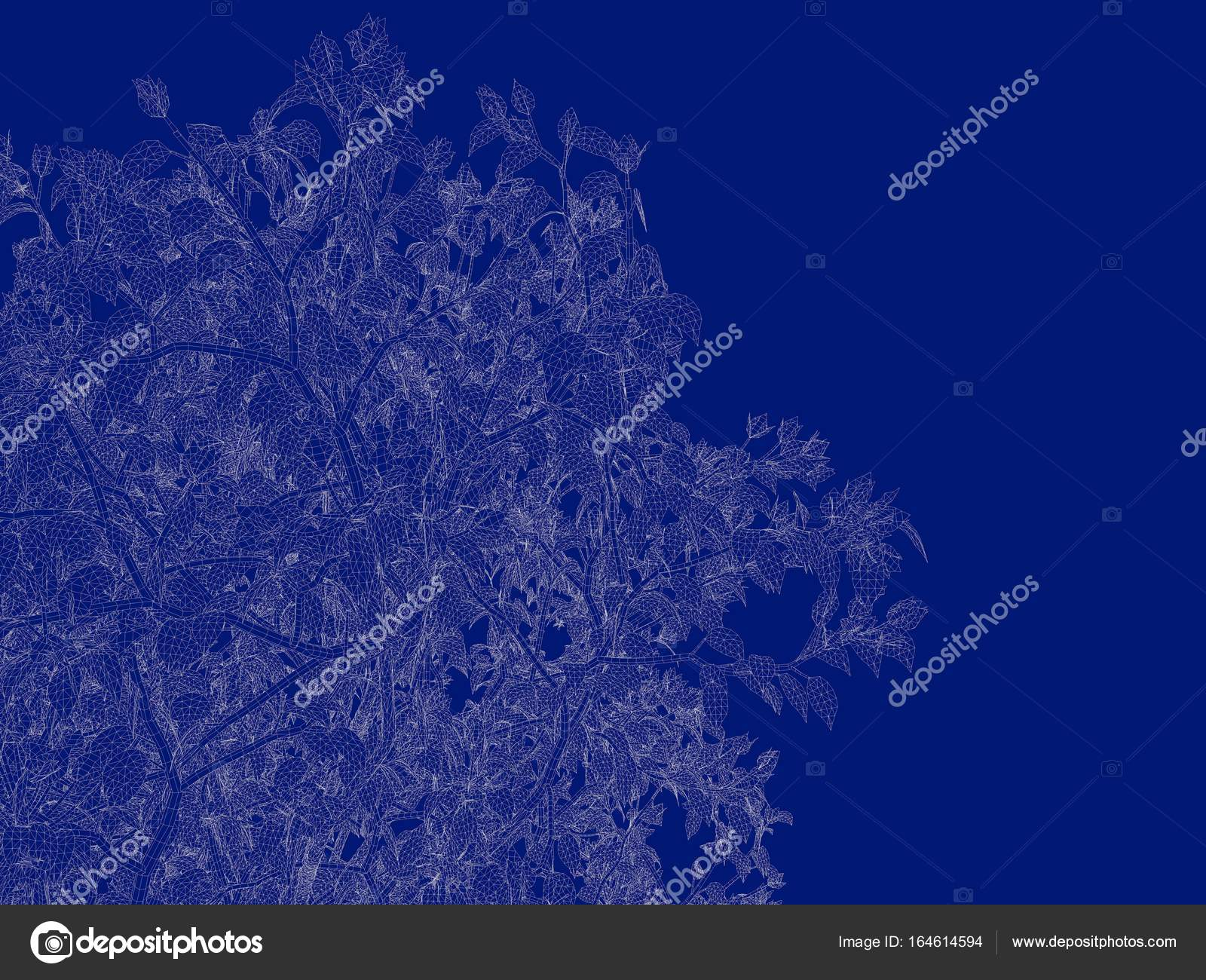 3d rendering of an outlined tree blueprint isolated on blue back 3d rendering of an outlined tree blueprint isolated on blue back stock photo malvernweather Choice Image