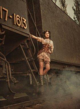 A steampunk girl