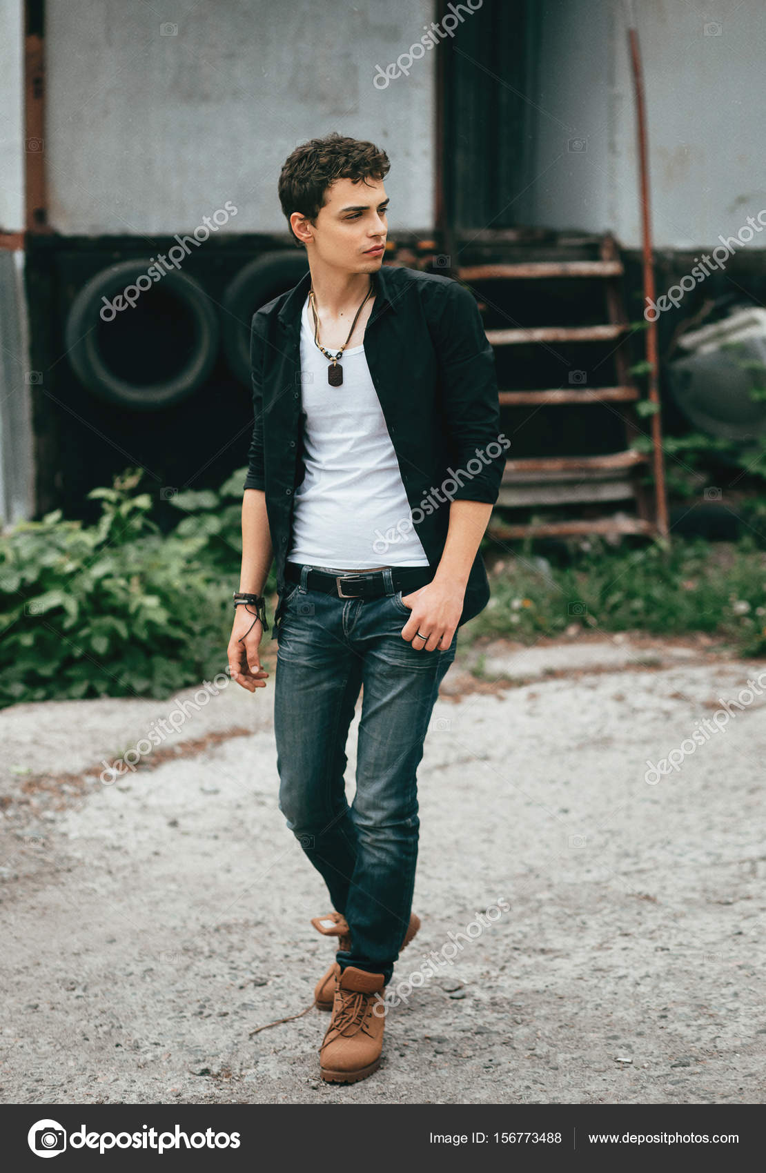 young man in rock style stock photo liqwer20 gmail com 156773488