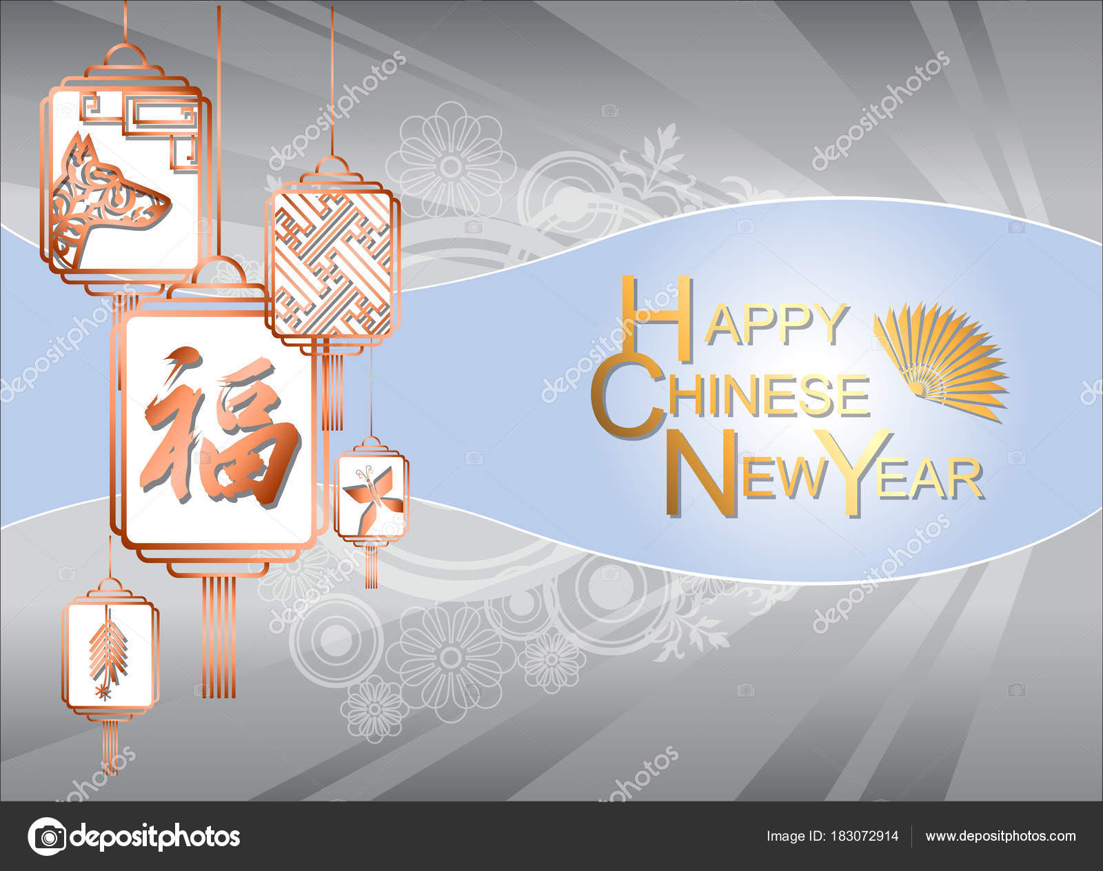 Abstract Chinese New Year Traditional Chinese Wording Meaning Lucky Happy Stock Vector C Legendofsinbatt Gmail Com 183072914
