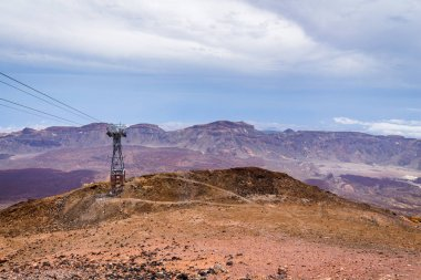 Cableway on the volcano Teide