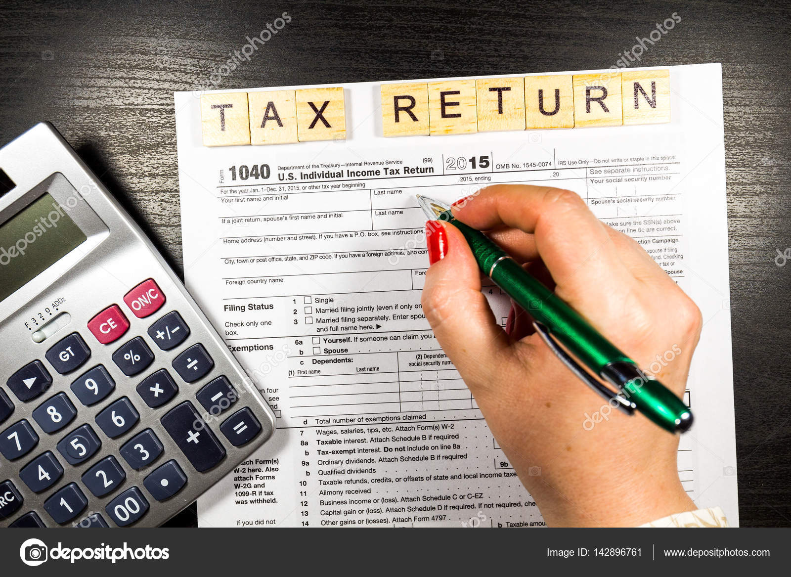 Us Tax Return Form 1040 Stock Photo Daliu 142896761