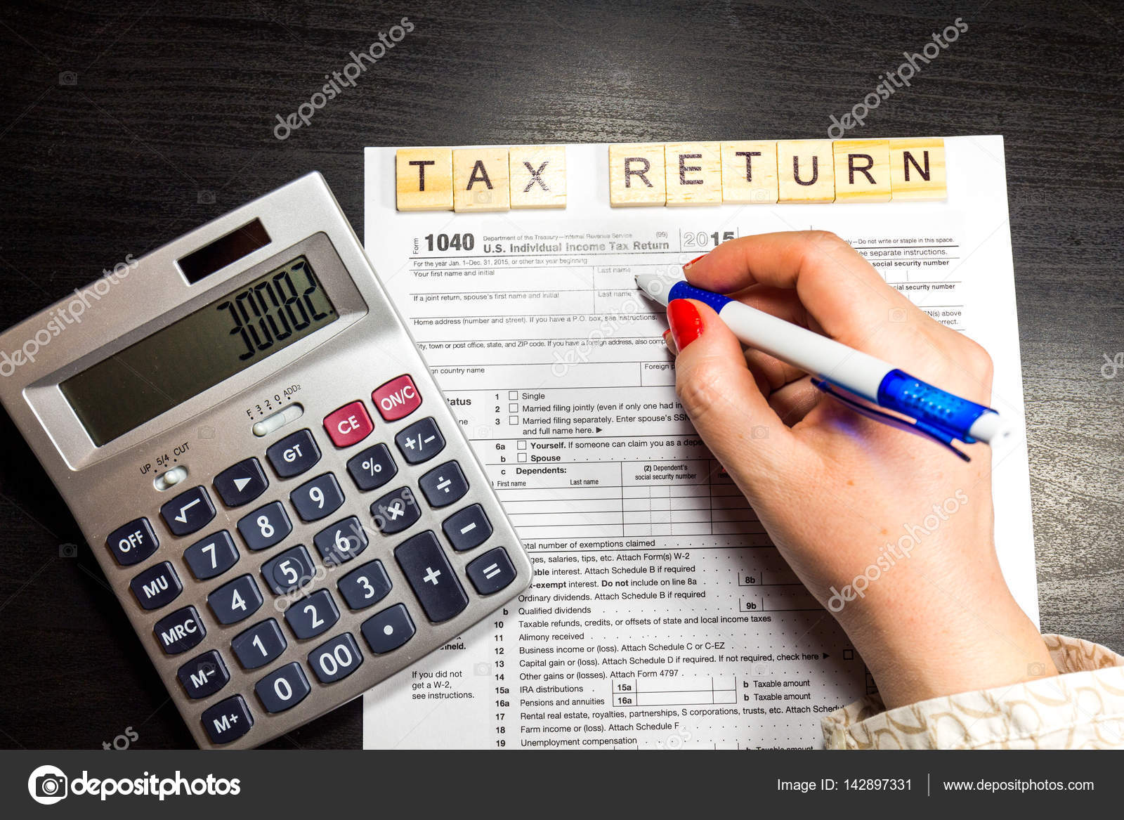 Us Tax Return Form 1040 Stock Photo Daliu 142897331