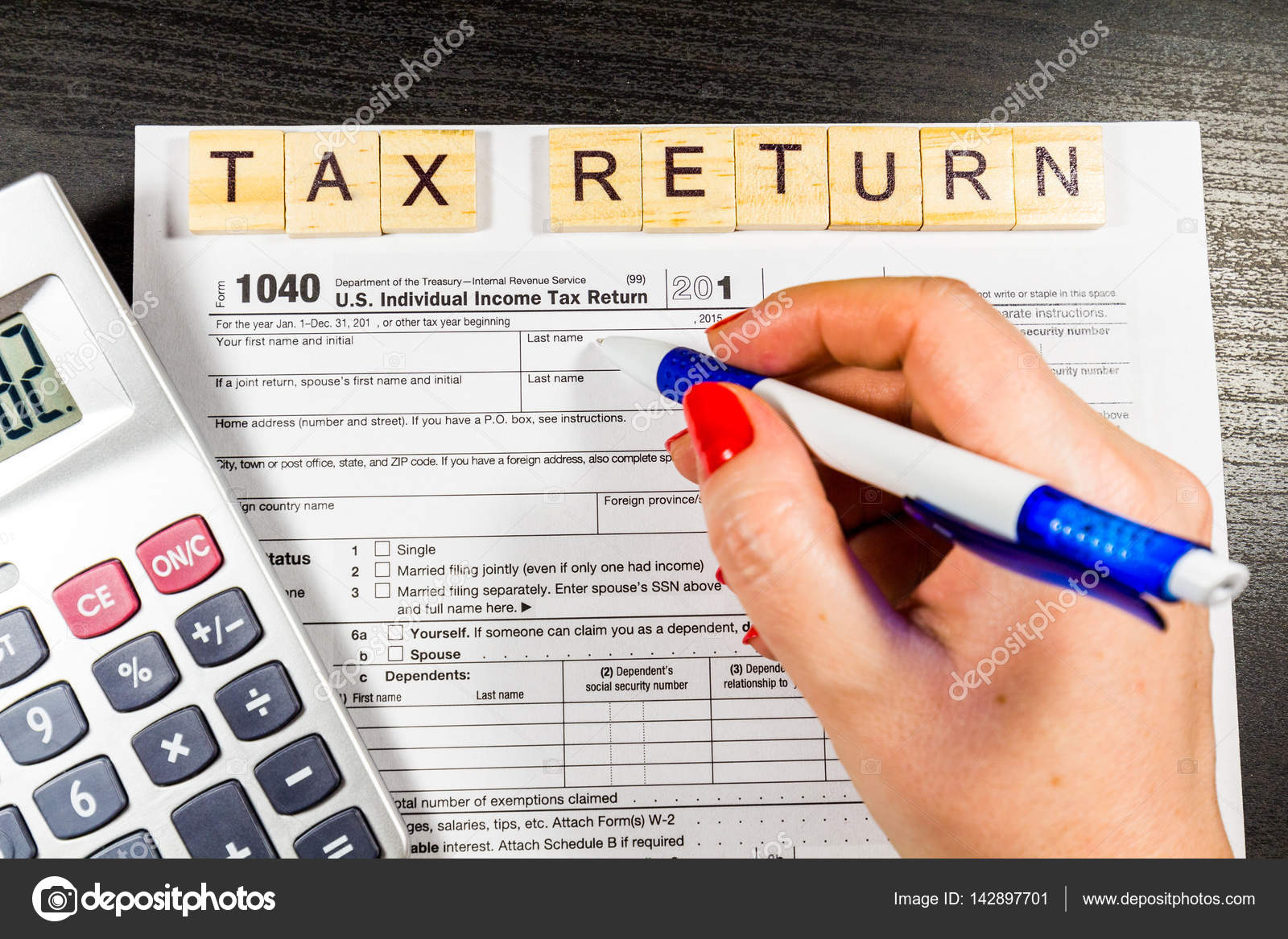 Us Tax Return Form 1040 Stock Photo Daliu 142897701