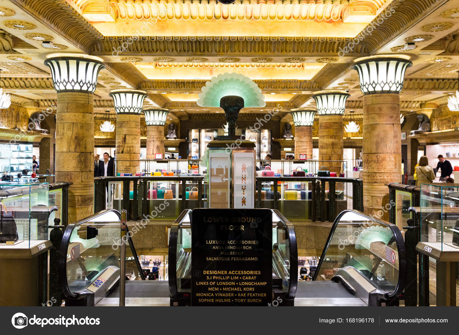 London, England - April 4, 2017: Interior of the famous Harrods ...