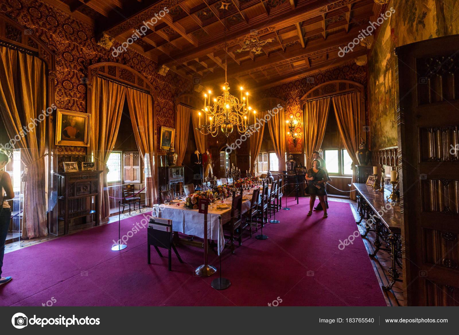 Zicht op het interieur van De Haar kasteel, Nederland – Redactionele ...
