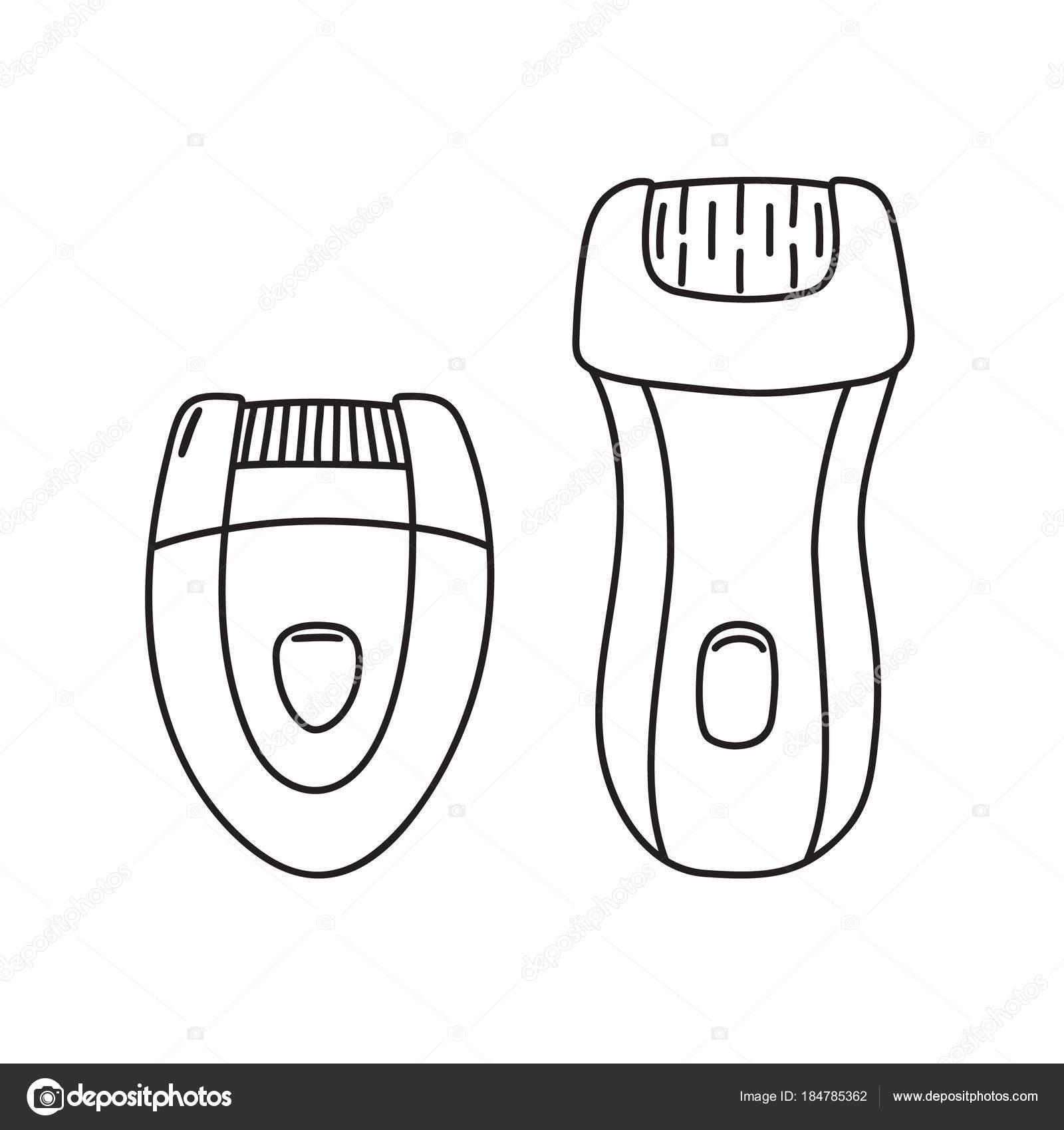 Zwei Arten von elektrischen Epilierer Epilieren Gerät — Stockvektor ...