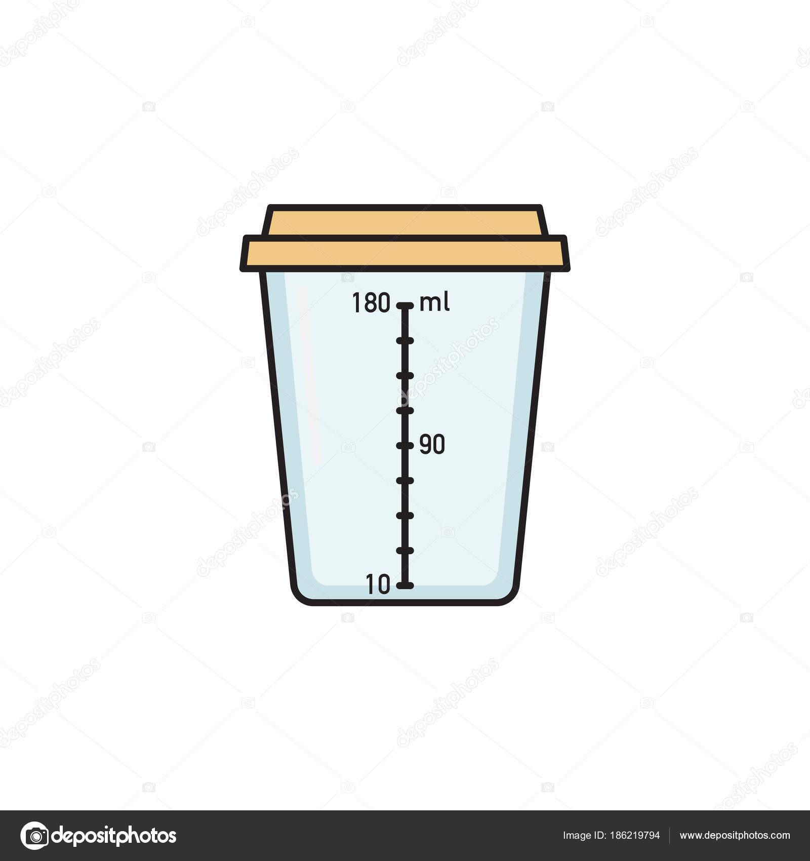 empty plastic container for urine collection stock vector rh depositphotos com