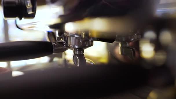 espresso machine and cup close-up