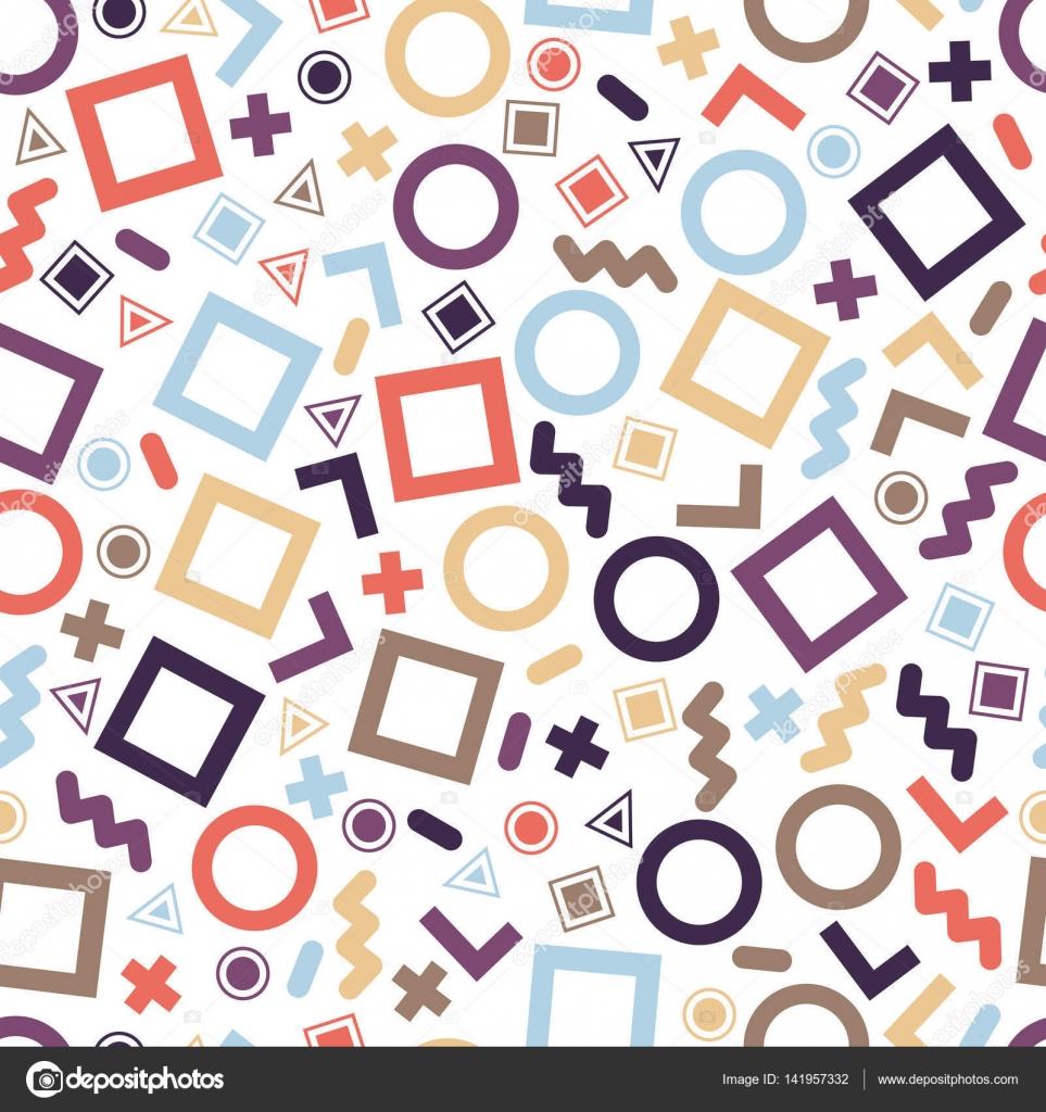 Sin costura patrones geométricos primitivos para tejido y postales ...