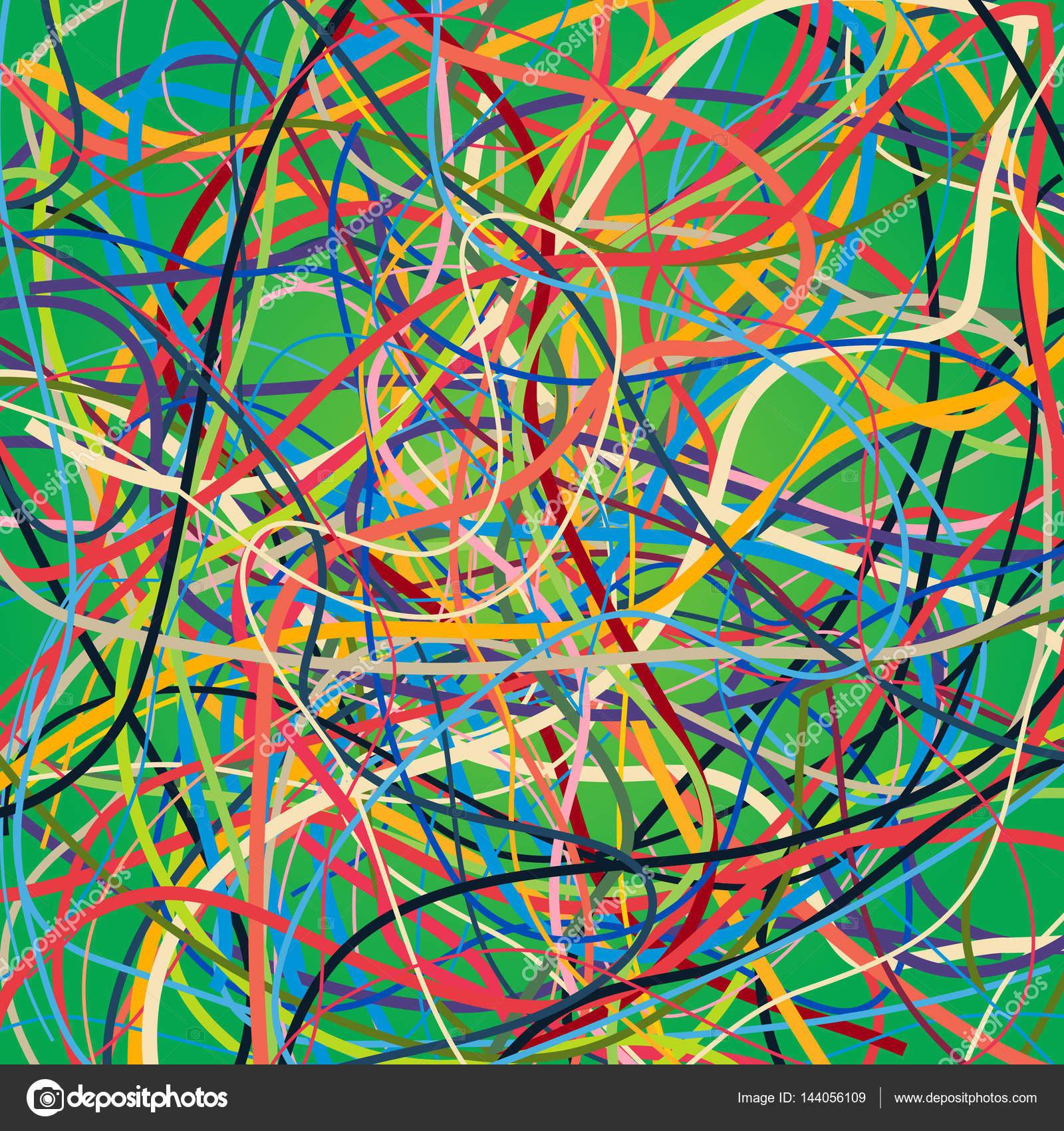 Vektor-Hintergrund mit bunten Linien bewegen. Hellen Hintergrund der ...