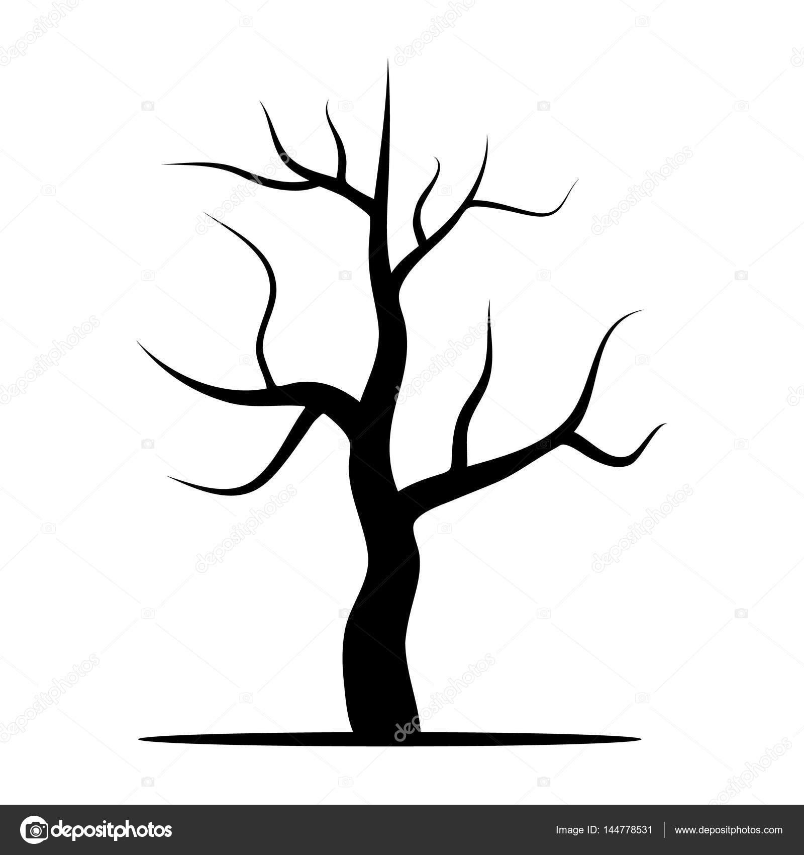 Rbol sin hojas vector de stock dniprodd 144778531 for Arboles de hoja perenne sin fruto