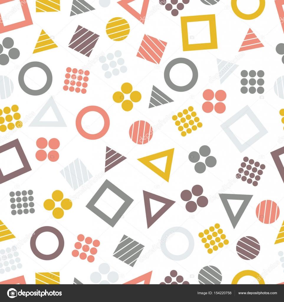 Sin costura patrones geométricos primitivos con cuadrados ...