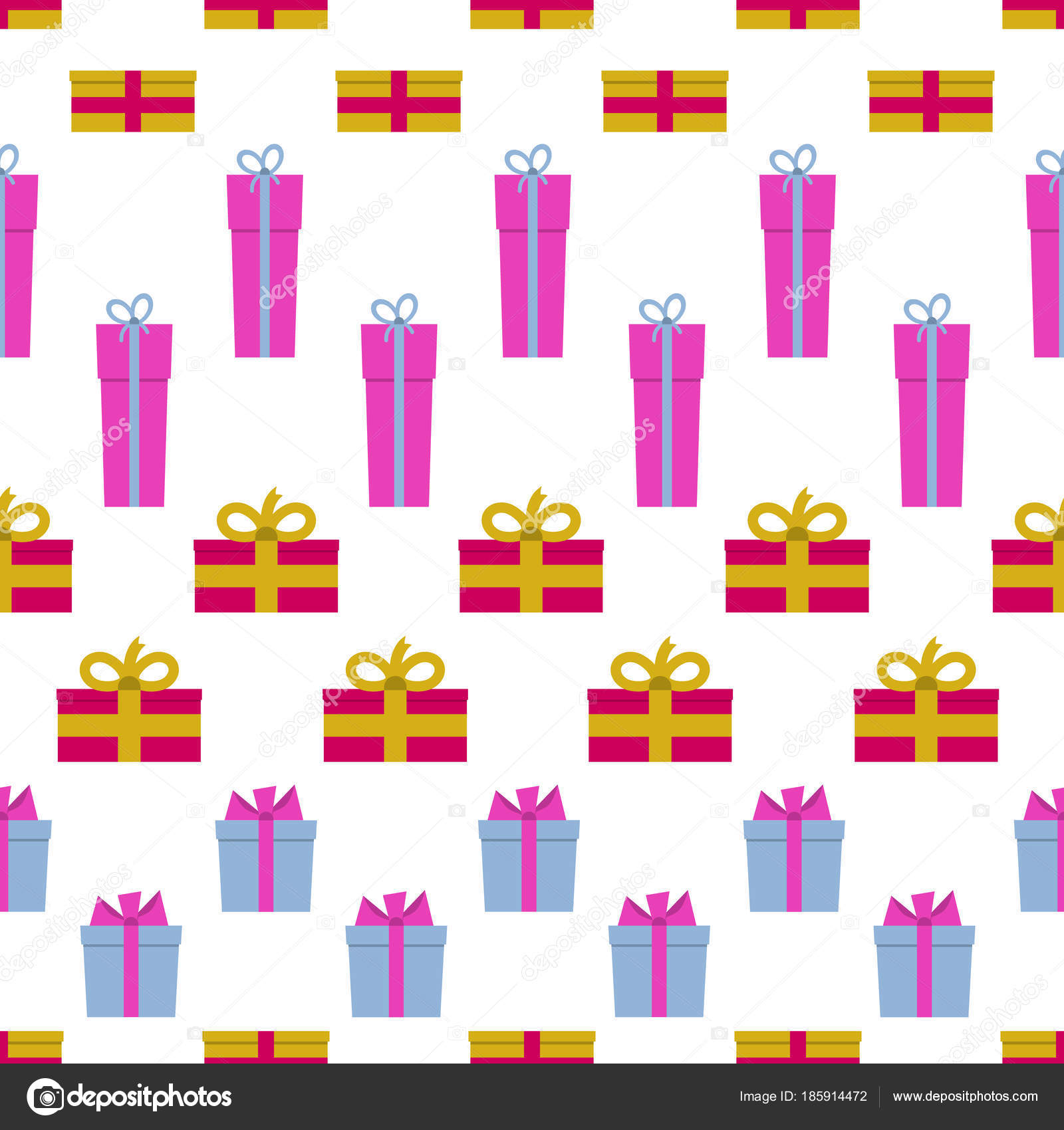 patrón sin costuras con las cajas de regalo sobre fondo blanco ...