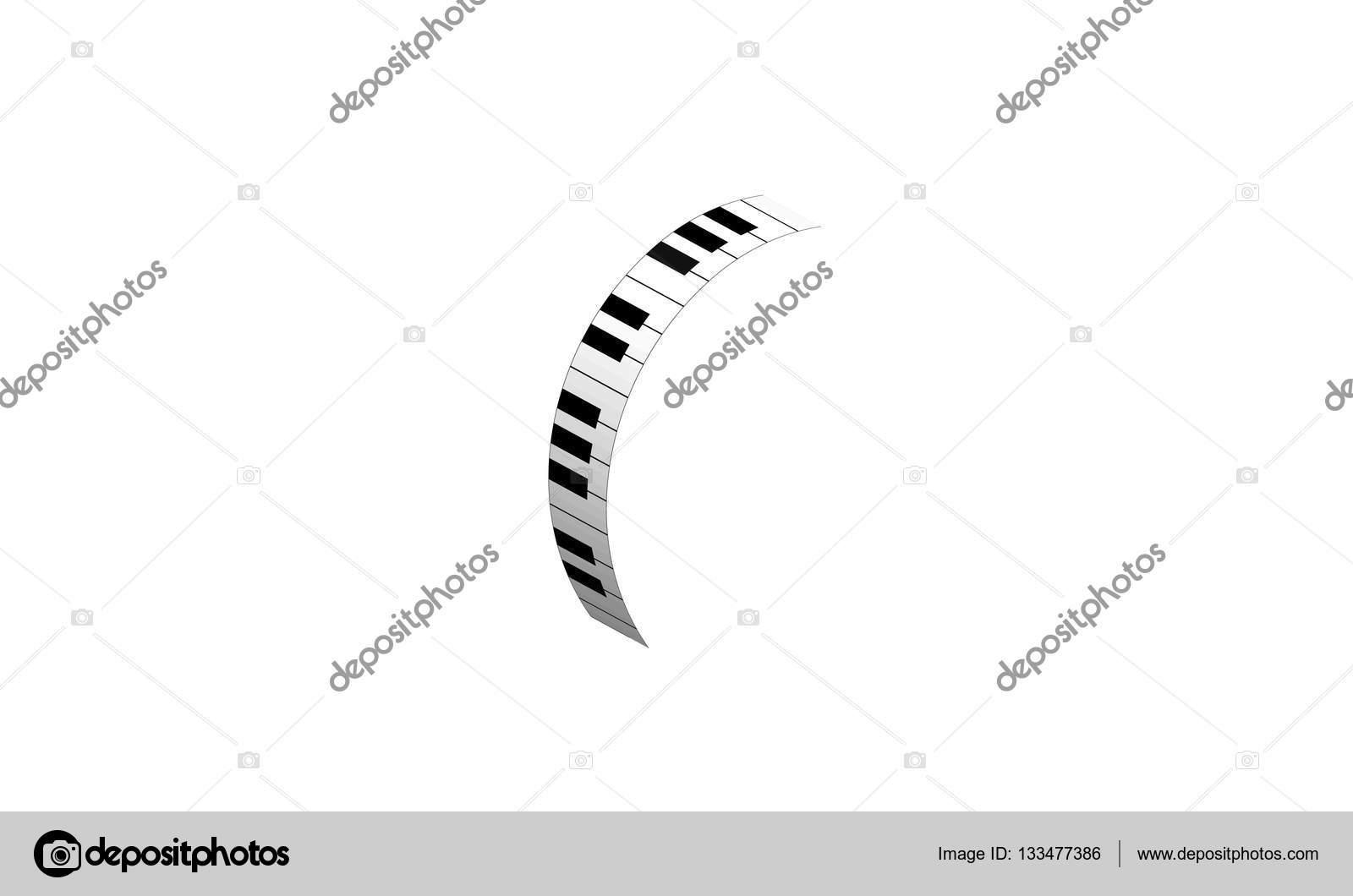 Símbolo Da Música Teclado Do Piano Vetores De Stock Sanrgo