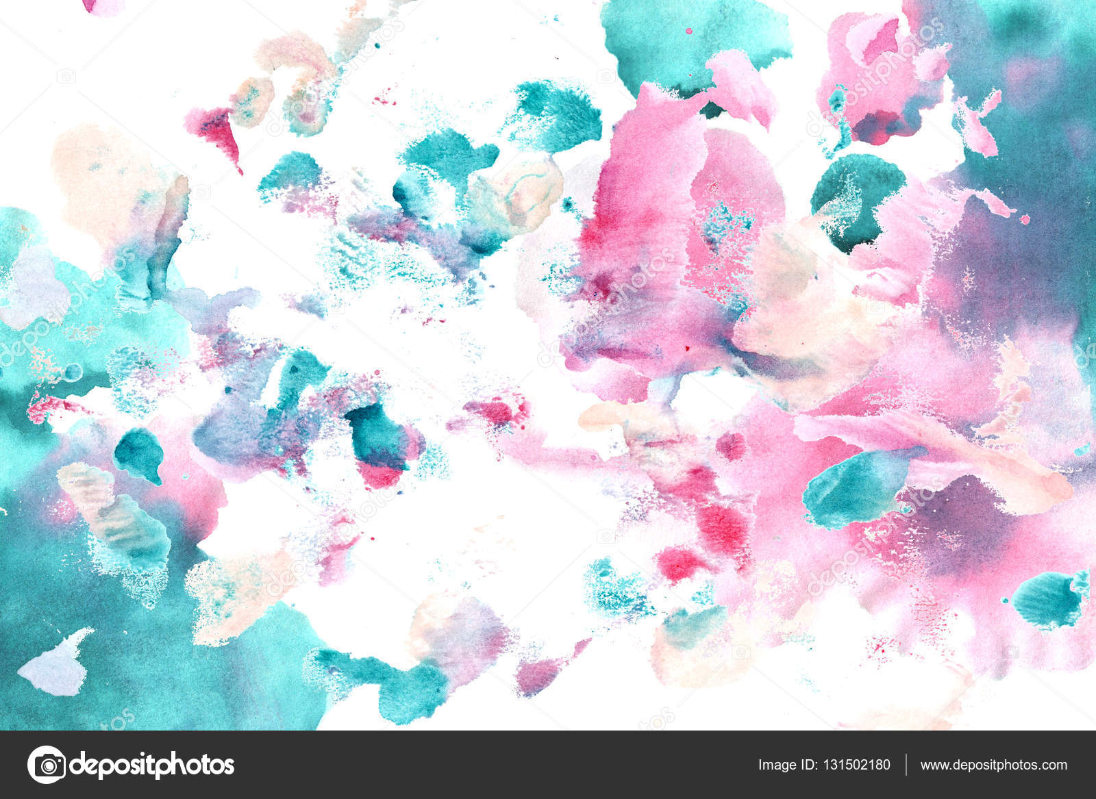 Cyan Magenta Color Watercolor Background Stock Photo C Soolima