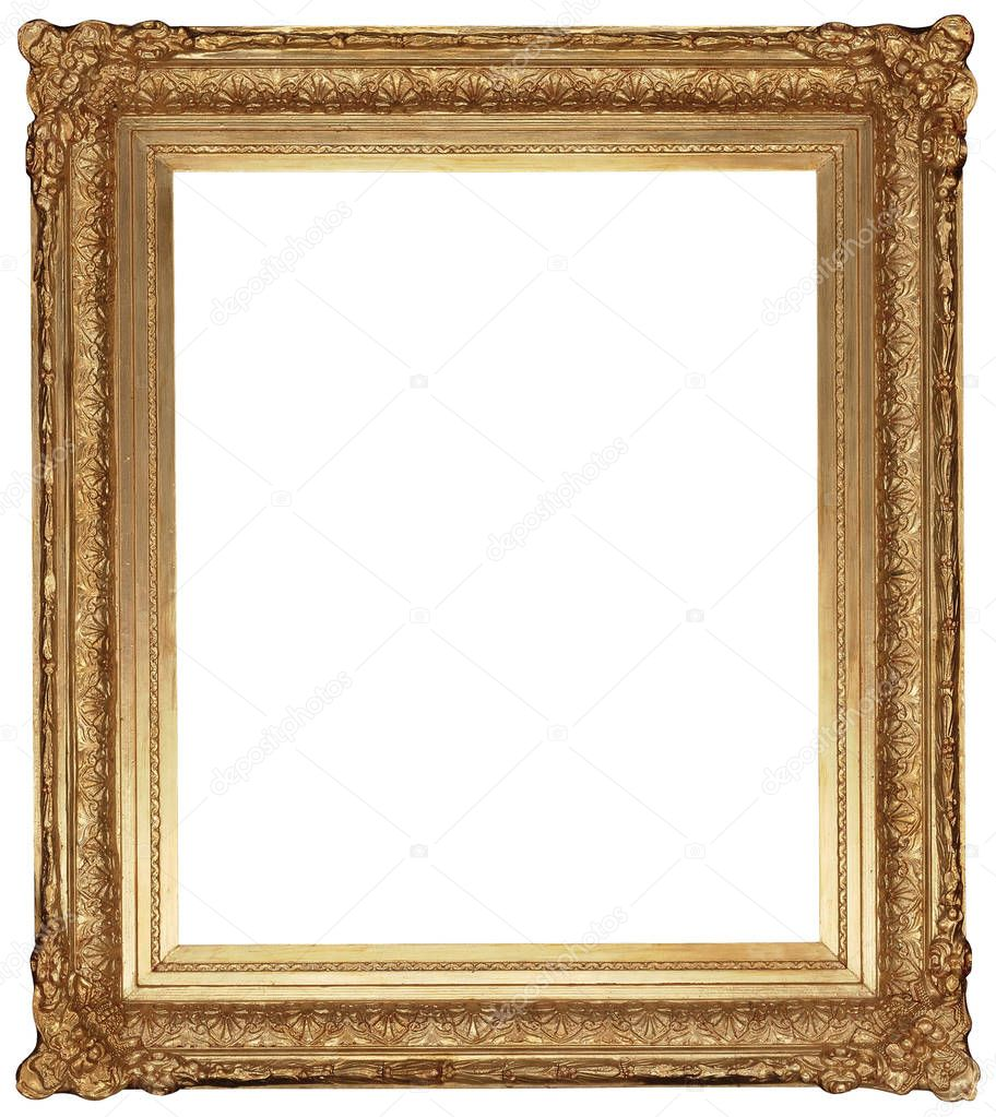 Marcos clasicos para cuadros antiguo marco dorado cl sico aislado sobre fondo blanco foto de - Marcos clasicos para cuadros ...