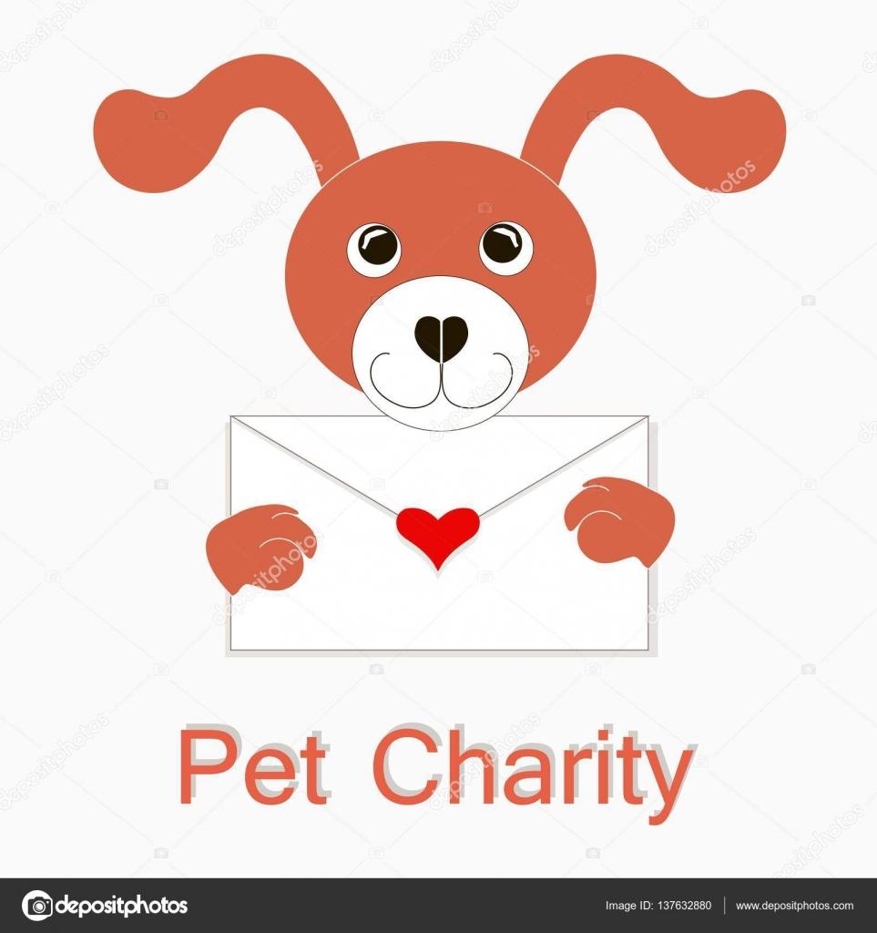 Typografie Napisu Happy Pet Charity Cervene A Bile Kreslene Pes S