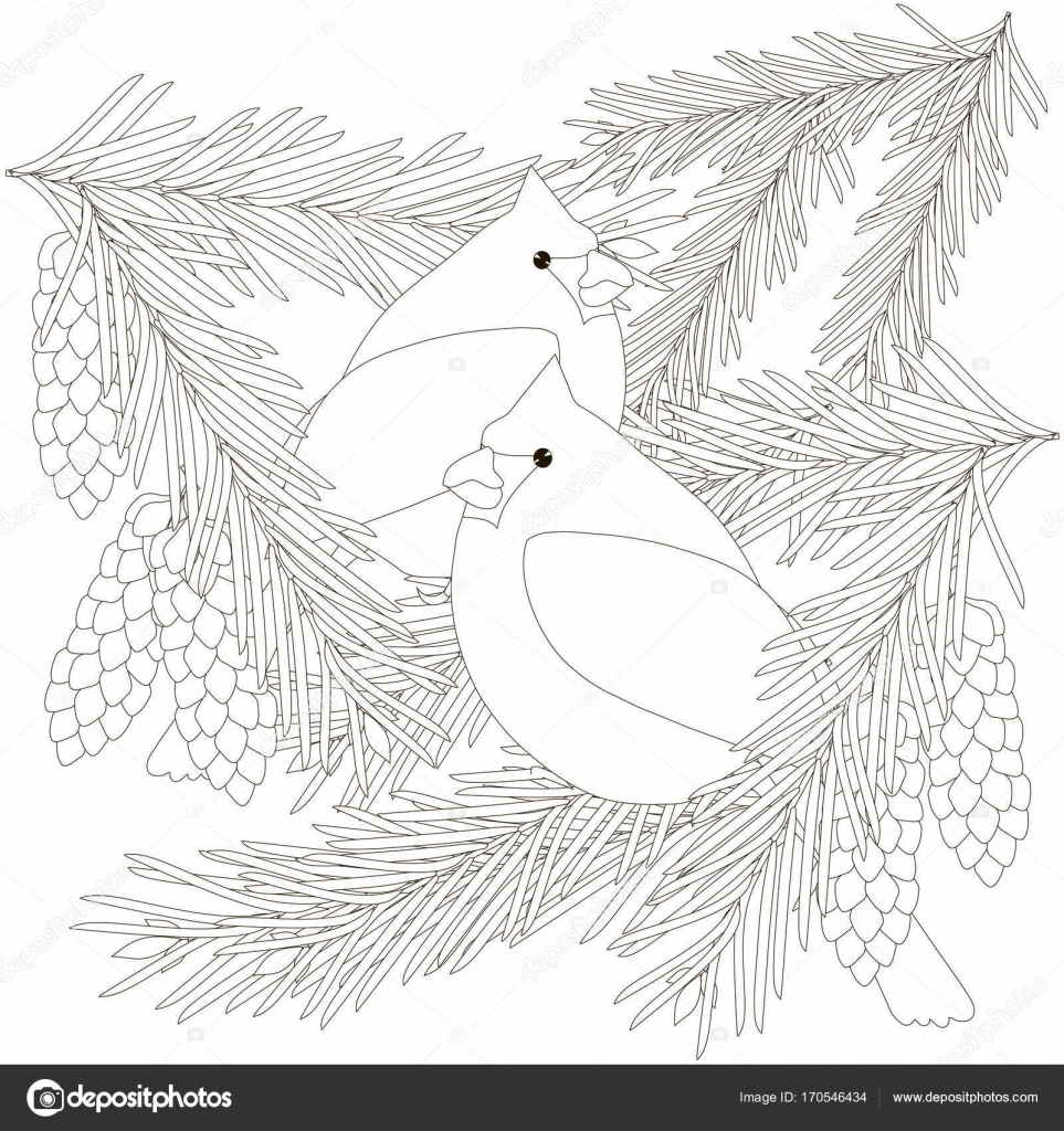 Bambini Da Colorare Di Magazzino Pagina Vector Uccello Illustrazione