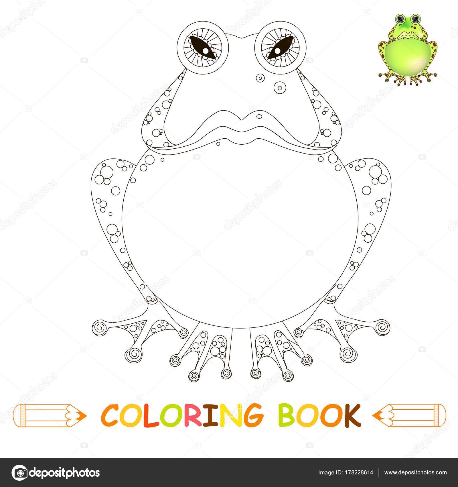 Sayfa Boyama çocuk Illüstrasyon Kızgın çizgi Film Kurbağa Boyama