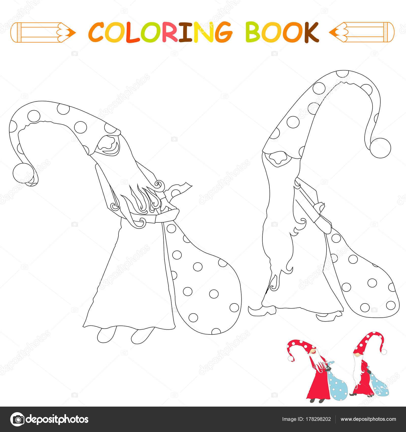 Kinderen Kleurplaten Pagina Vector Illustratie Tekenfilms Fairy