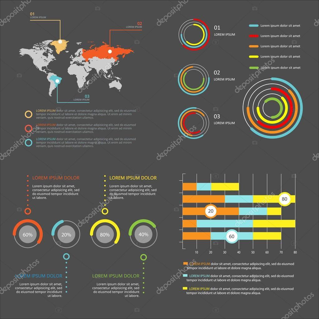 Infografik-Vorlagen für Unternehmen eingestellt. Vektor-Illustration ...
