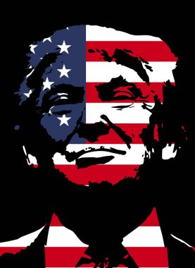Donald Trump. Vector illustration.