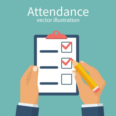 Attendance concept vector