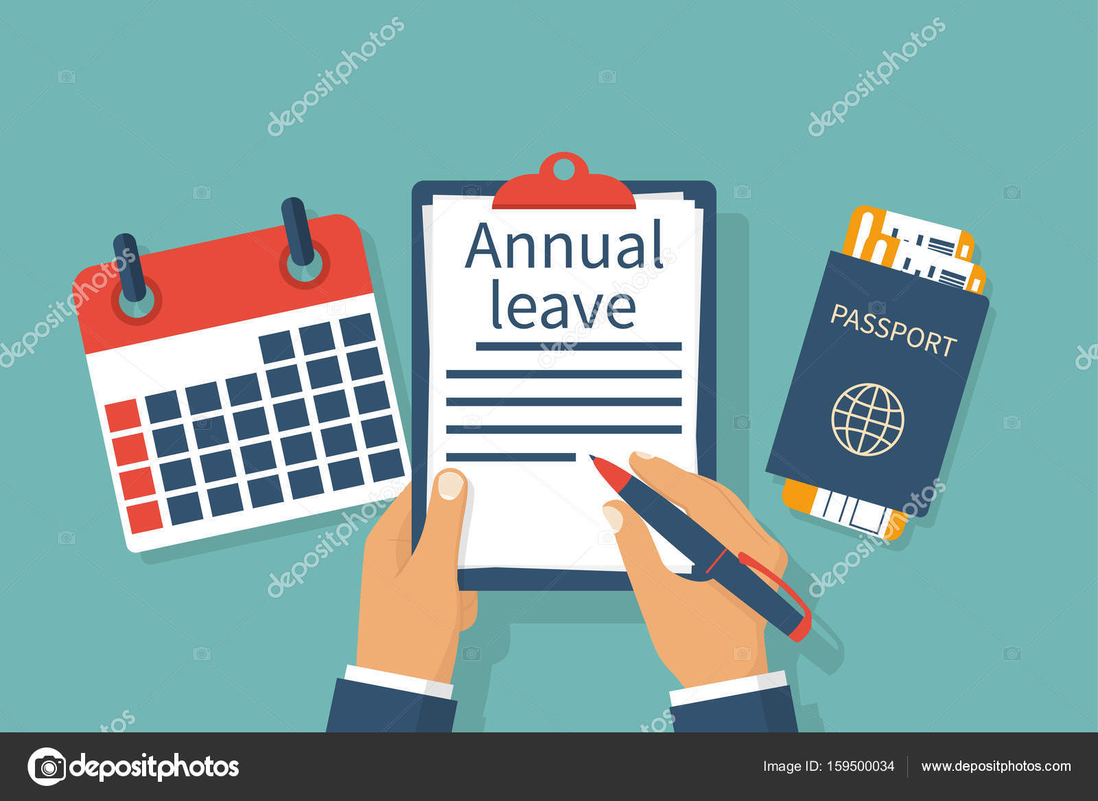 Annual Leave Vector Stock Vector 169 Threecvet Gmail Com