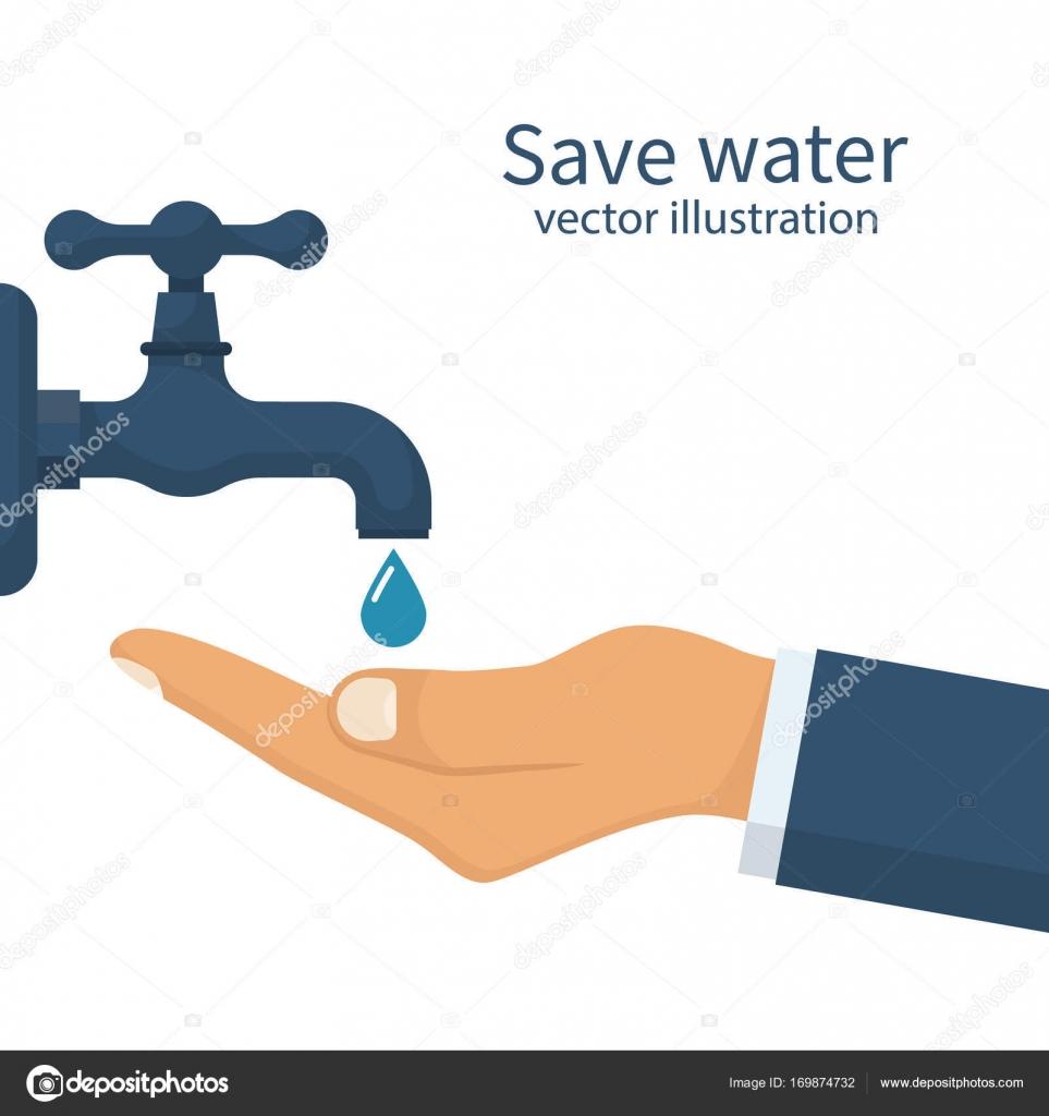 Save water concept — Stock Vector © threecvet.gmail.com #169874732
