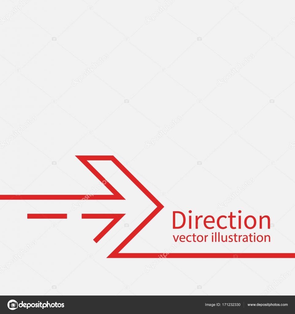 Vector del concepto de dirección — Vector de stock © threecvet.gmail ...