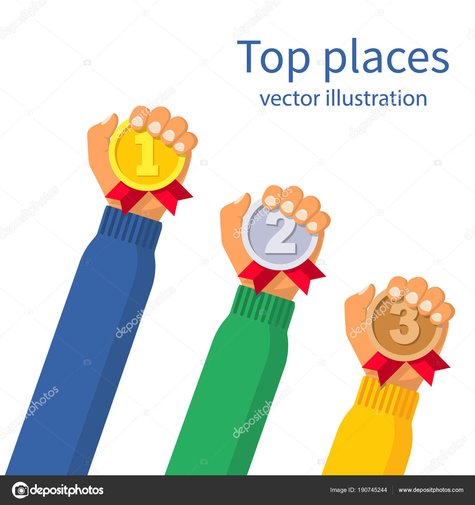 1st, 2nd and 3rd places — Stock Vector © threecvet gmail com