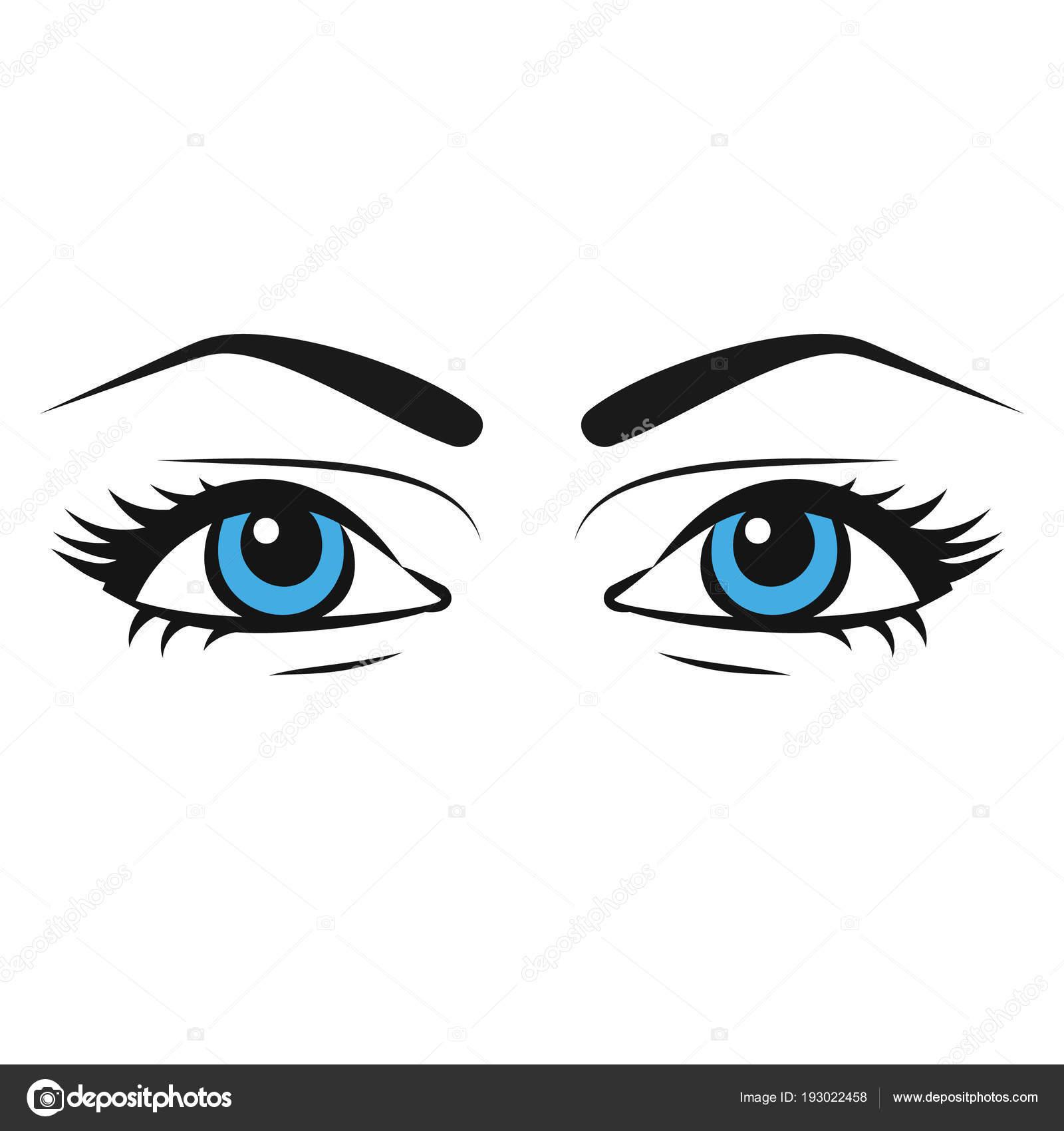 Drawings Of Girls Eyes Female Eyes Beautiful Painted Woman
