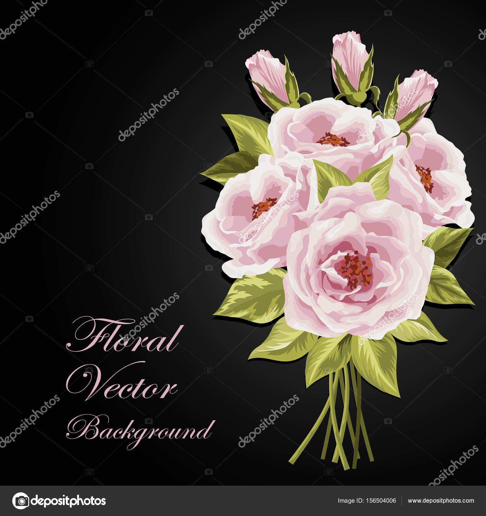 Beautiful Bouquet Of Roses Stock Vector Deboprevail