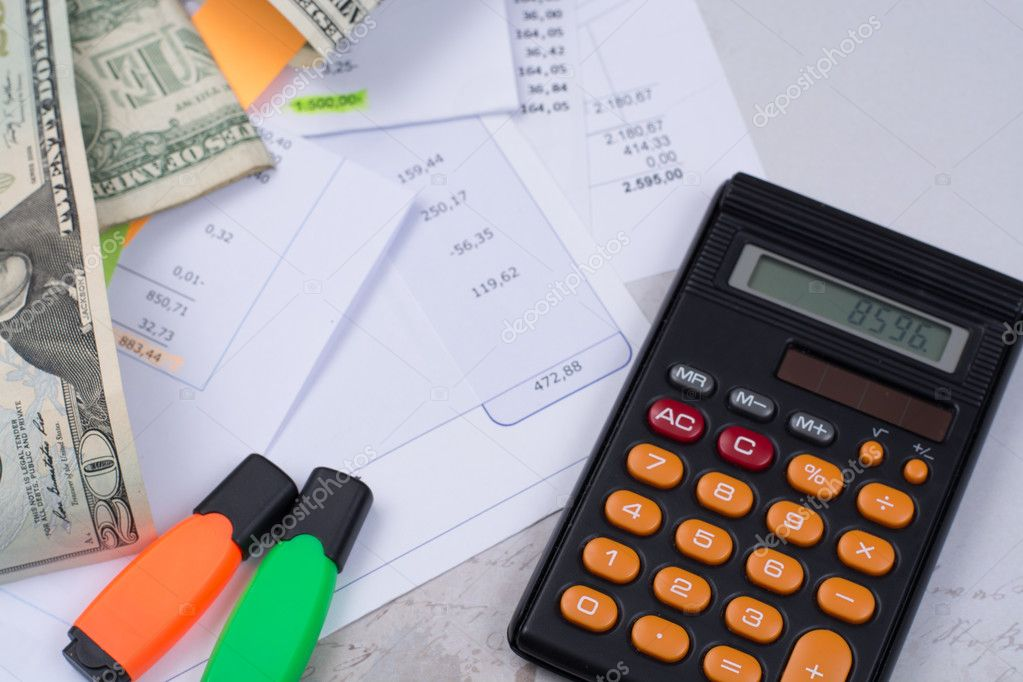 utility or mortgage bills calculator and us dollars tax and