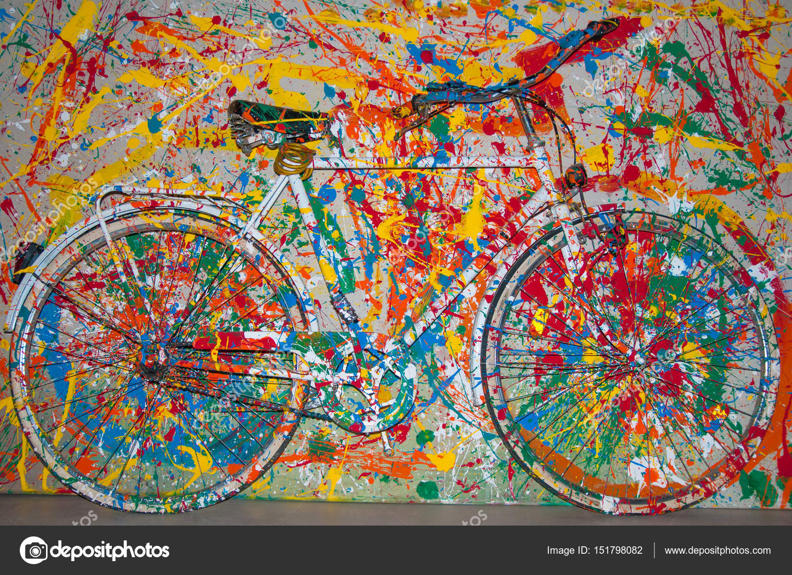 Bici Decorativo Dipinto Come Un Quadro Dipinto Foto Stock
