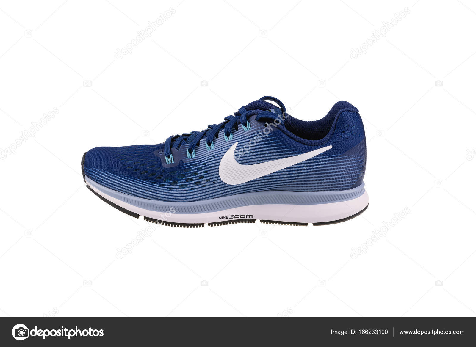 BURGAS, BULGARIA - SEPTEMBER 7, 2017: Nike Air Zoom Pegasus 34 Women's  Running Shoes in blue isolated on white background. Nike is a global sports  clothes ...