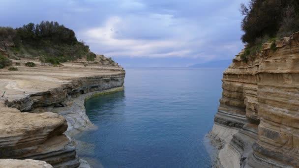 Der Kanal der Liebe, Canal d  Amour in Sidari. Korfu, Griechenland.
