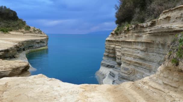 Kanal der Liebe, Kanal d amour in sidari. Insel Korfu, Griechenland.