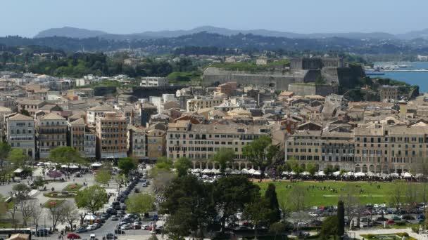 Alten Corfu Stadt Stadtbild, Griechenland. Von der alten Festung in Korfu Stadt anzeigen.