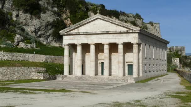 Kirche von Saint George in der alten byzantinischen Festung, Insel Korfu, Kerkyra, Griechenland.