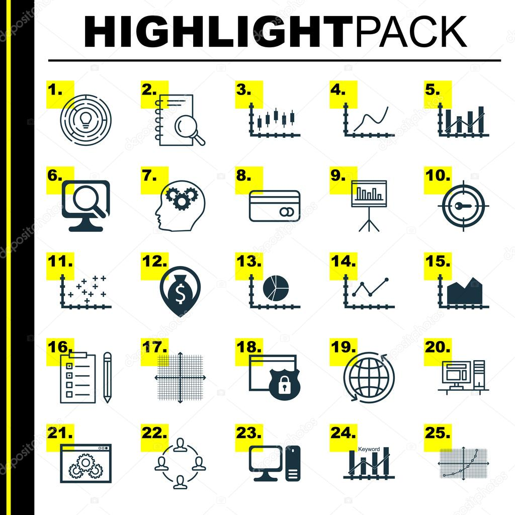 Set of 25 universal icons on changes graph plot diagram website set of 25 universal icons on changes graph plot diagram website performance and more ccuart Image collections