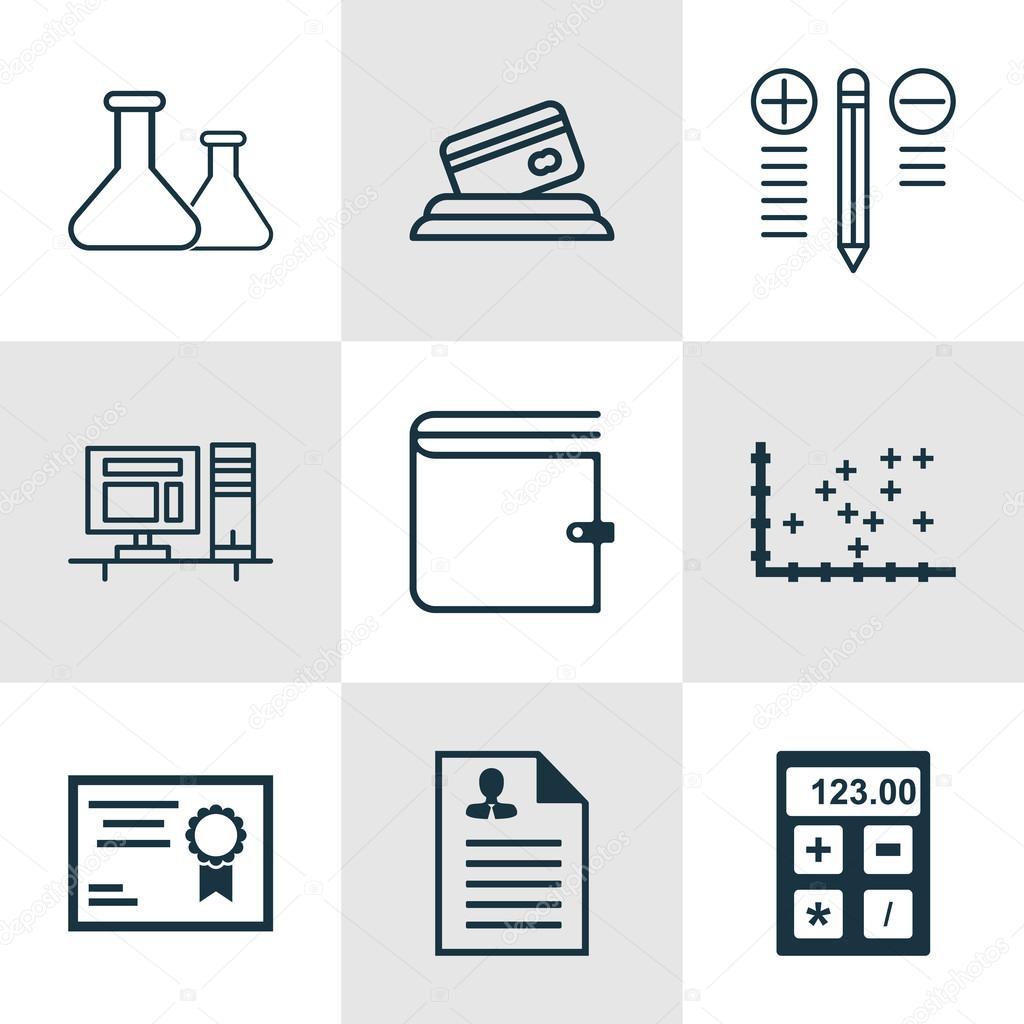 Set de 9 iconos editables Universal para recursos humanos, gestión ...