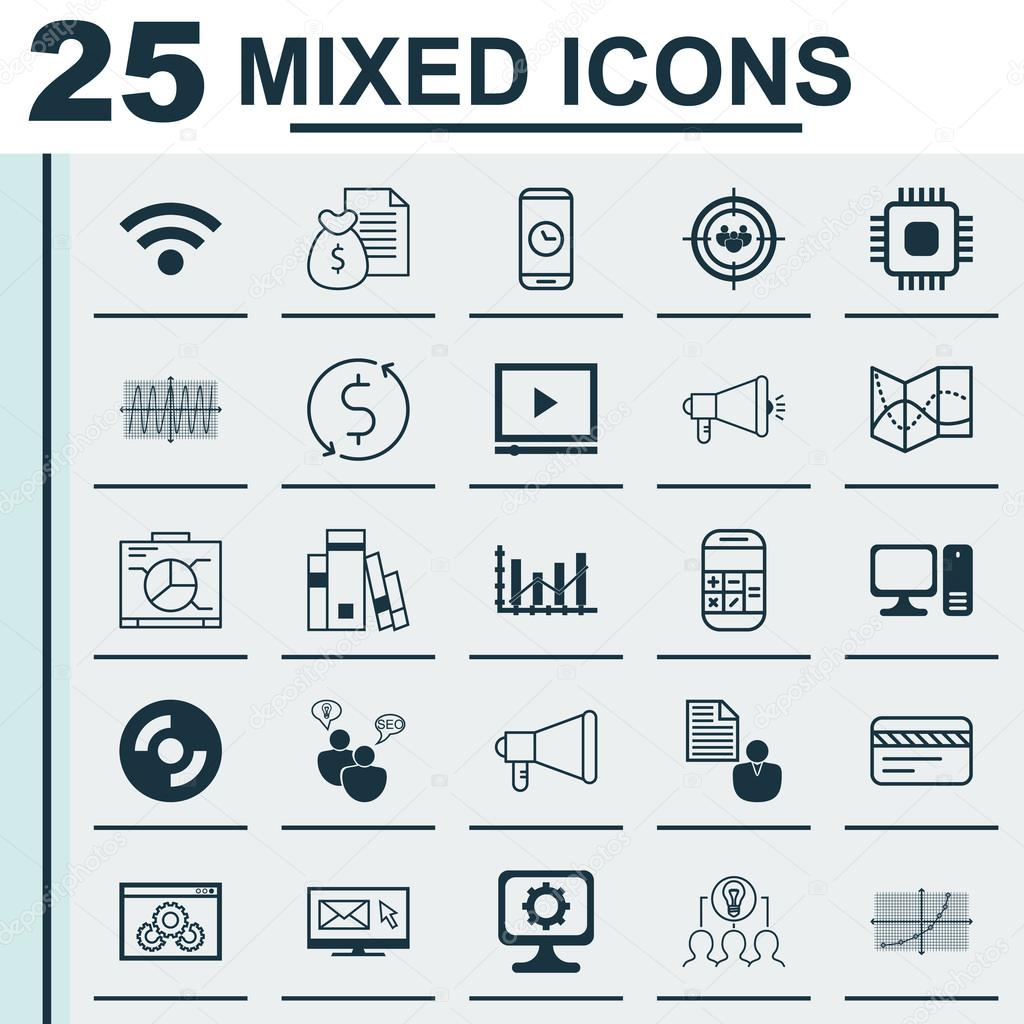 Set of 25 universal editable icons can be used for web mobile and set of 25 universal editable icons can be used for web mobile and app design includes icons such as website performance raise diagram library and more ccuart Choice Image