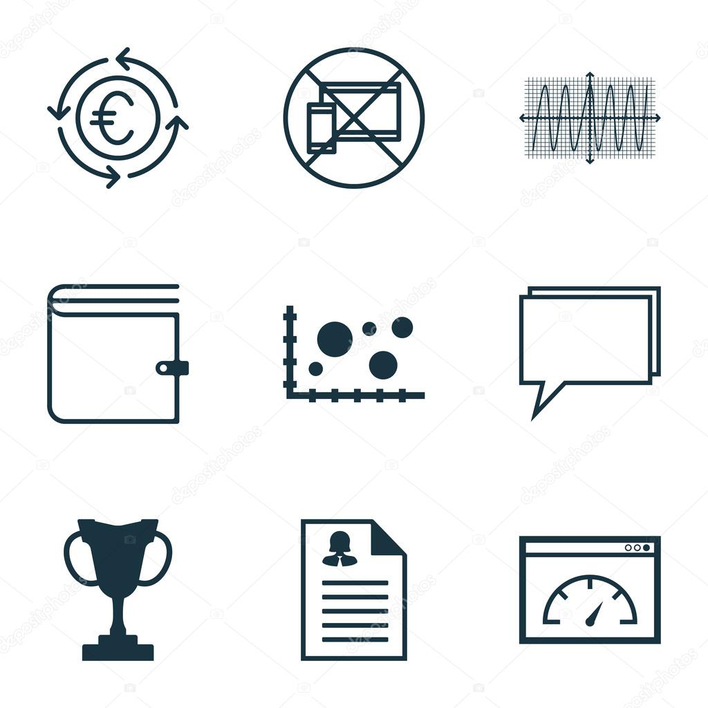 Set Of 9 Universal Editable Icons Can Be Used For Web Mobile And