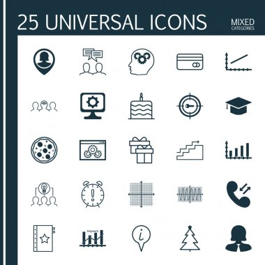 Set Of 25 Universal Editable Icons. Can Be Used For Web, Mobile And App Design. Includes Icons Such As PC, Dynamics, Keyword Marketing And More.