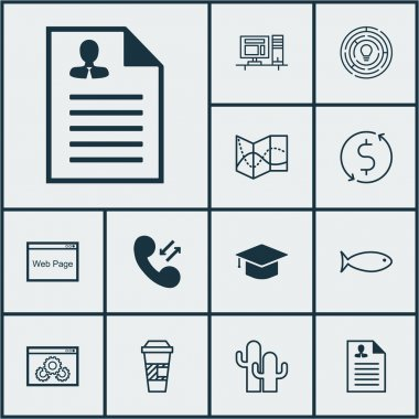 Set Of 12 Universal Editable Icons. Can Be Used For Web, Mobile And App Design. Includes Icons Such As Fishing, Graduation, Money Trasnfer And More.