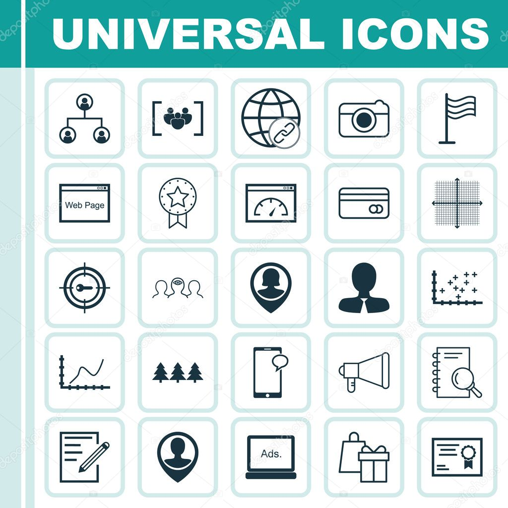 Set of 25 universal editable icons can be used for web mobile and can be used for web mobile and app design includes icons such as plot diagram website certificate and more vector by aalbedouinail ccuart Image collections