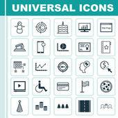 Sada 25 univerzální upravitelné ikon. Lze použít pro webové, mobilní a návrhu aplikací. Obsahuje ikony kamery foto, zima, rekreačních ornamentem a další